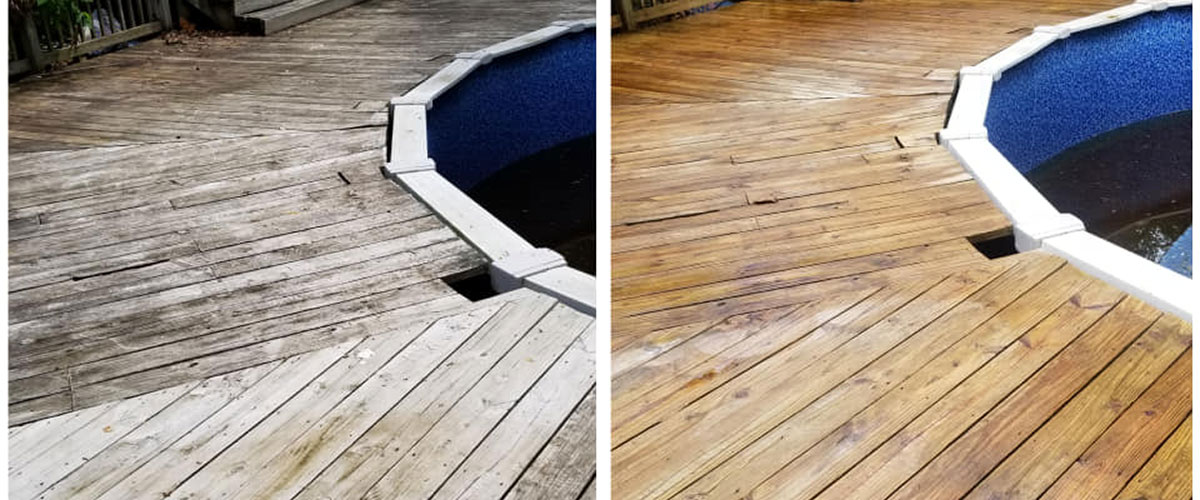 before and after pressur washing
